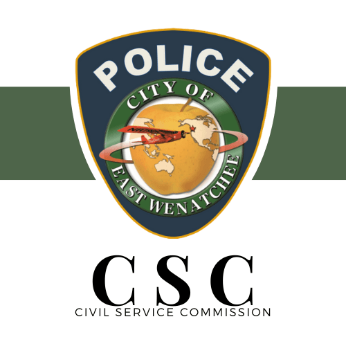 Police Department Logo with Civil Service Commission written below it.